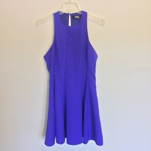 Lulu's purple skater dress with back cutout